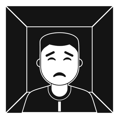 Man icon, simple style