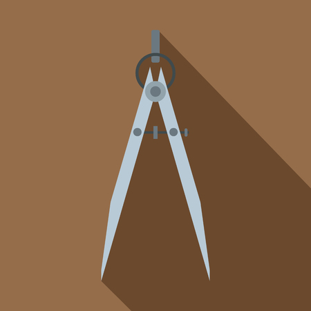 Compass tool icon, flat style
