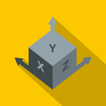 Area or size dimension icon, flat style Illustration