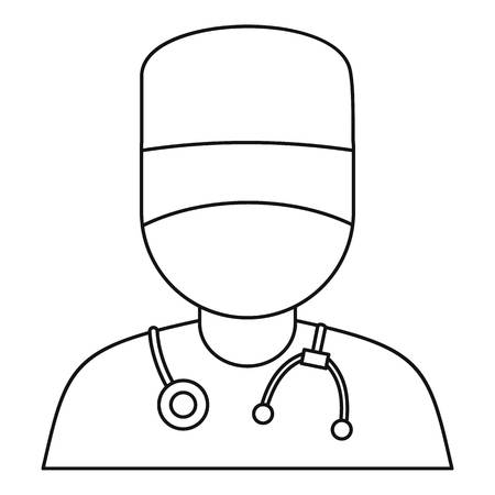 Doctor icon, outline style Ilustrace