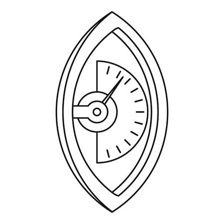 spring balance: Hand dynamometer icon, outline style