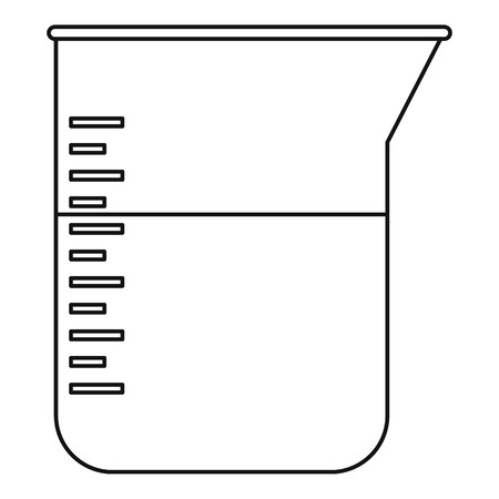 Kitchen measuring cup icon, outline style
