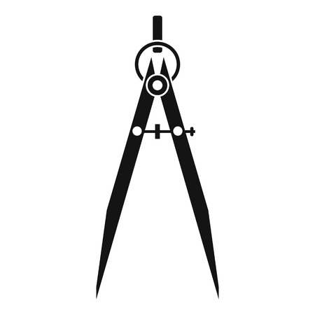Compass for drawing and delineation icon