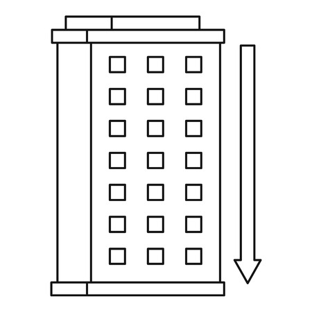 investment real state: Building icon, outline style