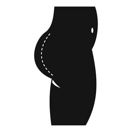 Plastic surgery of buttocks icon, simple style Ilustração