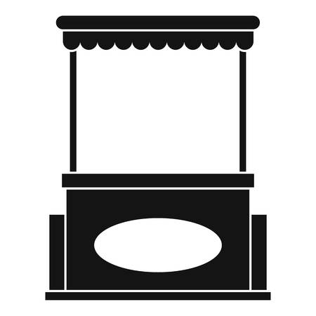 Street kiosk icon, simple style
