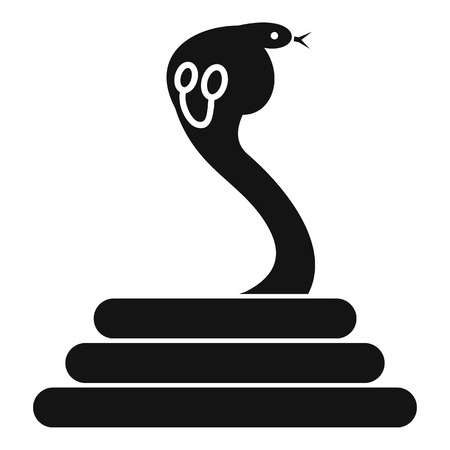 spectacled: Cobra icon, simple style