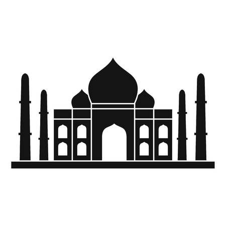 the taj mahal: Taj mahal icon, simple style Illustration