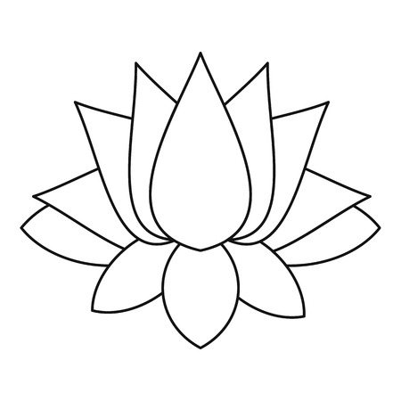 Lotus icon, outline style