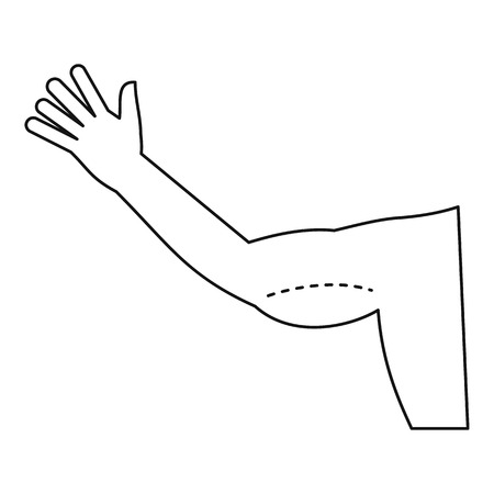 Plastic surgery, flabby arm correction icon