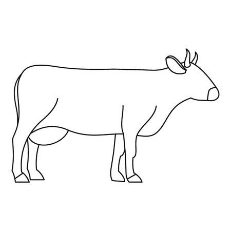 chuck: Cow icon, outline style Illustration