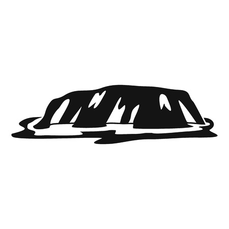 new zealand landscape: Cliff icon, simple style Illustration