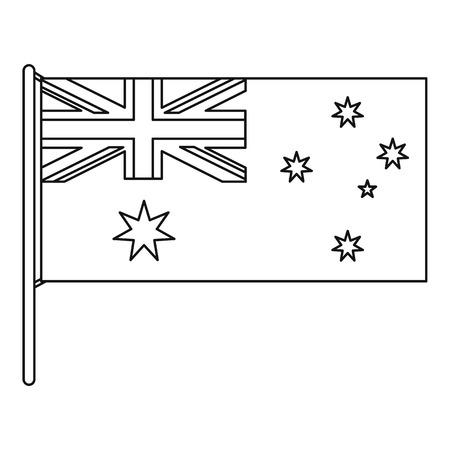 Australian flag icon, outline style