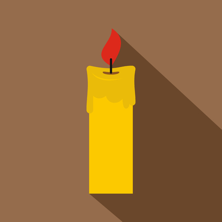 waxen: Candle icon, flat style Illustration