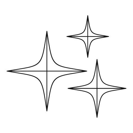 meteorite: Stars icon, outline style Illustration