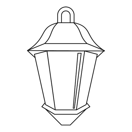 street light: Street light icon, outline style