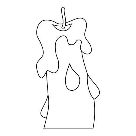 Candle icon, outline style Illustration