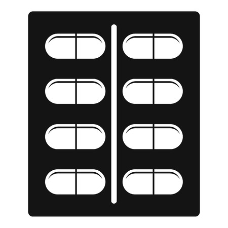 a tablet blister: Capsules icon, simple style