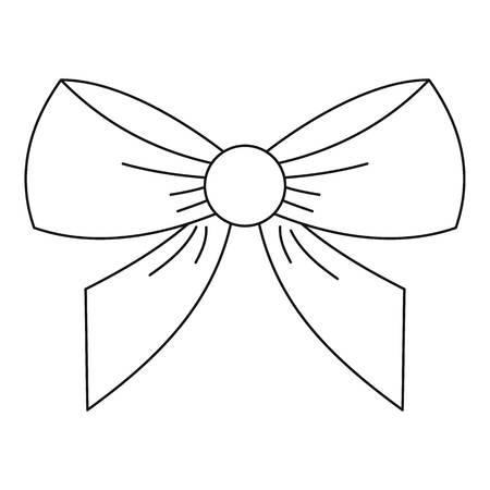 Bow icon, outline style