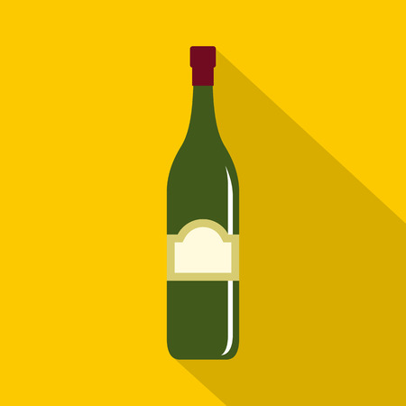 One bottle icon, flat style