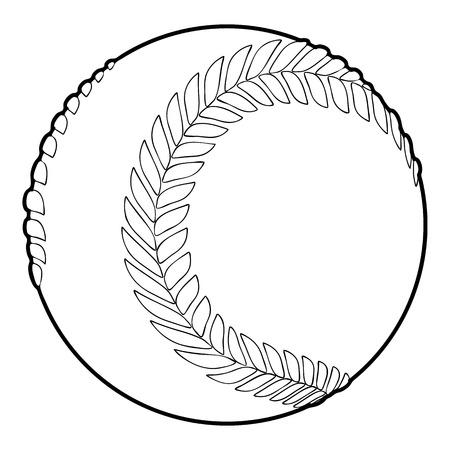 fastball: Baseball ball icon, outline style