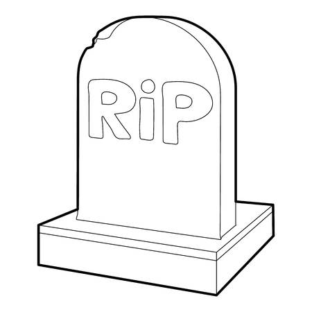 rip: Rip icon, outline style Illustration
