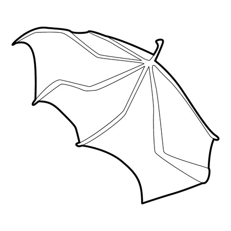 Waving wing icon, outline style Illustration
