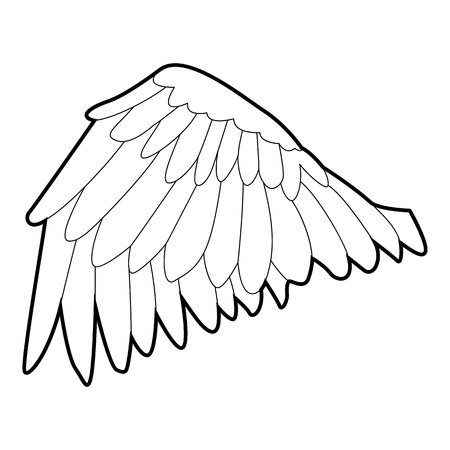 seraphic: Goose wing icon, outline style
