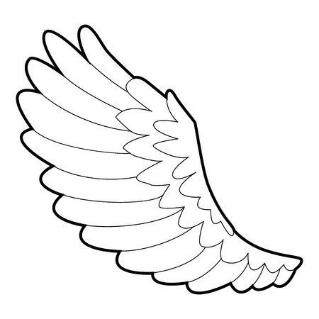 seraphic: Curve wing icon, outline style