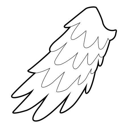 angelic: Angelic wing icon, outline style Illustration
