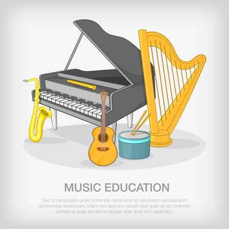 polyphony: Musical ensemble concept, cartoon style