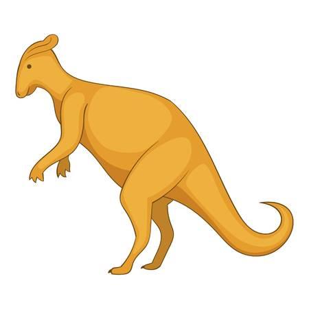 Oviraptor icon, cartoon style