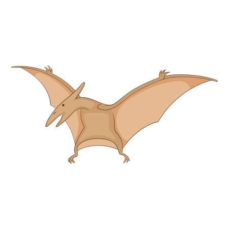 Pterosaurs icon, cartoon style