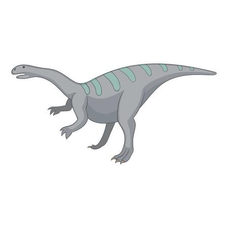 Igunodon icon, cartoon style