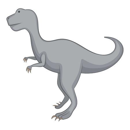 Allosaurus icono, estilo de dibujos animados Ilustración de vector