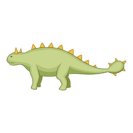 Kentrosaurus icon, cartoon style