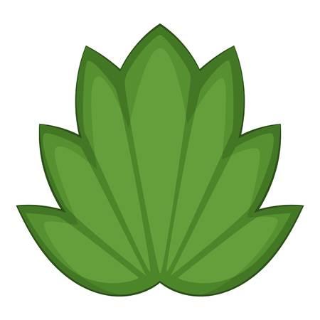 vegetate: Lotus leaf icon, cartoon style