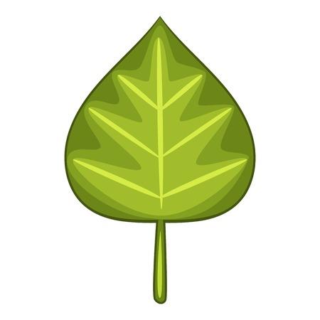 vegetate: Alder leaf icon, cartoon style