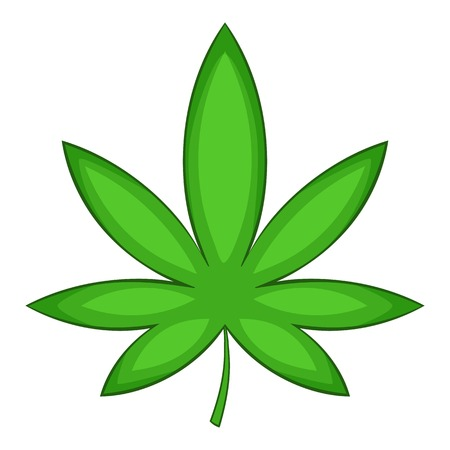 vegetate: Chestnut leaf icon, cartoon style