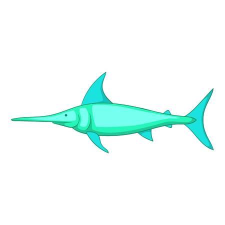 sailfish: Swordfish icon, cartoon style