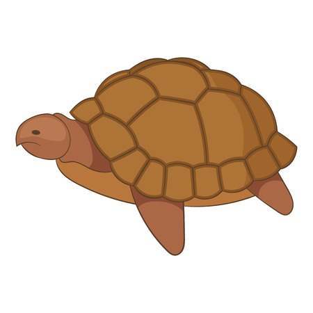 Turtle icon, cartoon style