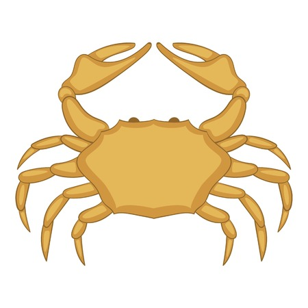 Crab icon, cartoon style