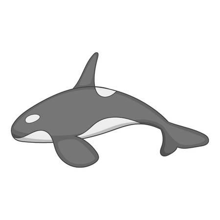 orcinus: Killer whale icon, cartoon style Illustration