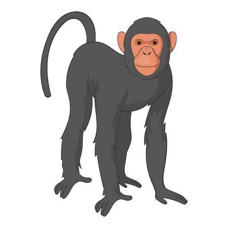 genus: Bonobo monkey icon, cartoon style Illustration