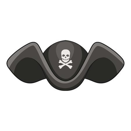 filibuster: Piracy hat icon, cartoon style