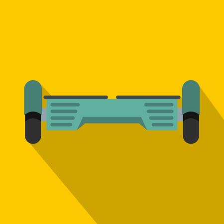 Hover board gyro pod icon. Flat illustration of hover board gyro pod vector icon for web isolated on yellow background Illustration