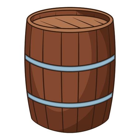 Wine barrel icon. Cartoon illustration of wine barrel vector icon for web Ilustração Vetorial
