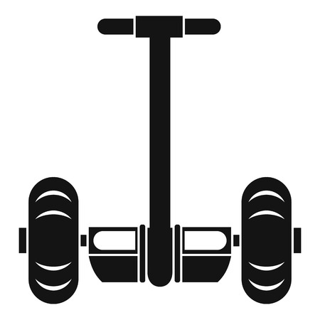 a two wheeled vehicle: Two wheeled battery powered electric vehicle icon. Simple illustration of two wheeled battery powered electric vehicle vector icon for web Illustration