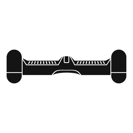 Dual wheel self balancing electric skateboard icon. Simple illustration of dual wheel self balancing electric skateboard vector icon for web Illustration