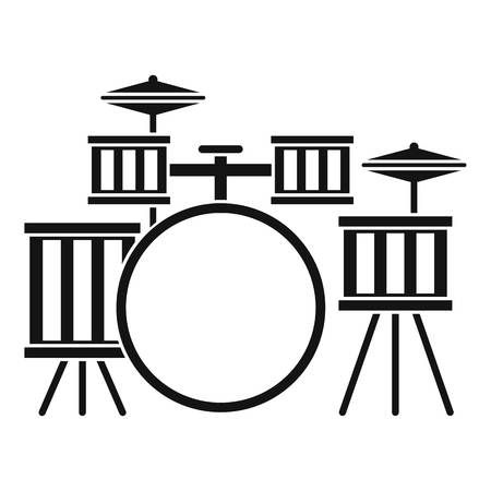 Drum kit icon. Simple illustration of drum kit vector icon for web